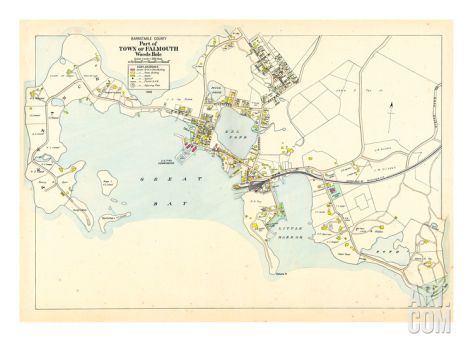 1905, Falmouth Town - Woods Hole, Massachusetts, United States Giclee Print at Art.com