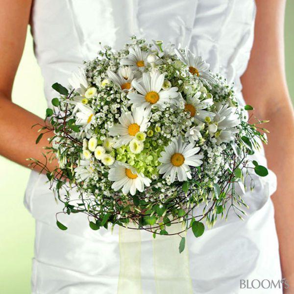 Hochzeitsfloristik: Schlichte Brautsträuße - Strauß mit Margeriten