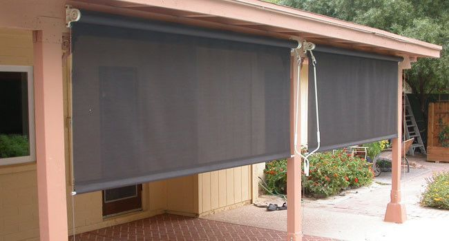 Patio Shade Blinds Outdoor, How To Make A Roll Up Patio Shade