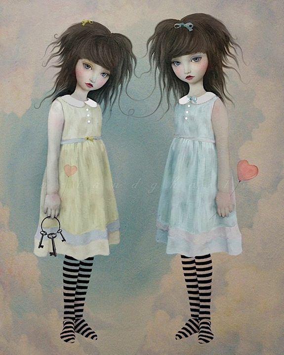 Twins have a challenge when it comes to self expression. Some want to mirror the other and some want to show their different ness.