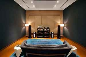 FINE TUNING HARMAN INTERNATIONAL'S AUDIOPHILE LISTENING ROOM ARTICLE IN ARCHITECT MAGAZINE. (Click Photo)