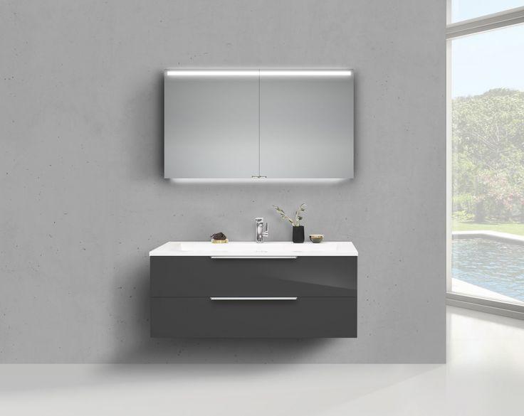 Badmöbel Set Cubo 120 cm Doppelwaschtisch, mit Unterschrank und Led Spiegelschrank Jetzt bestellen unter: https://moebel.ladendirekt.de/bad/badmoebel/badmoebel-sets/?uid=e1f77246-c167-51a7-9c80-150857dba3a7&utm_source=pinterest&utm_medium=pin&utm_campaign=boards #bad #badmoebel #badmoebelsets #waschtischsets
