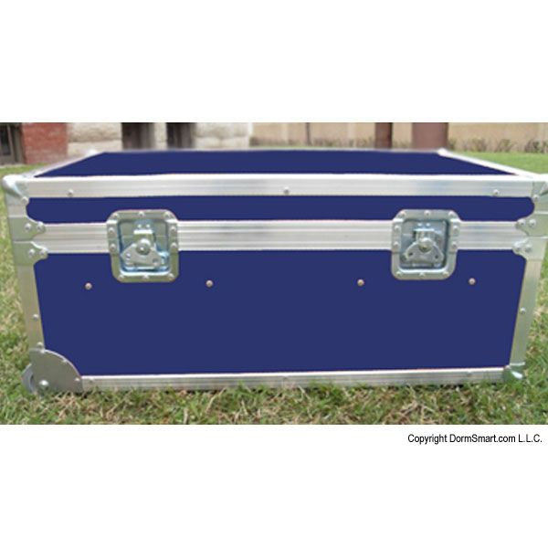 Safari Navy Blue Large ATA College Footlocker with Recessed Wheels and Tray | FREE SHIPPING