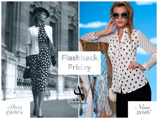 Fashion has long had a love affair with #polkadots that started as early as 1910! The 30s are our favourite! #FBF