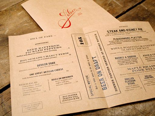 Very classy and old school menu.