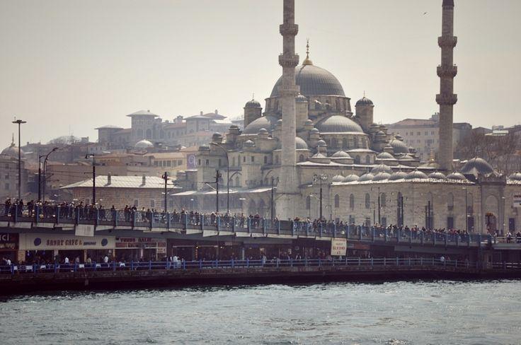 View from fish market - Recording Galata Bridge