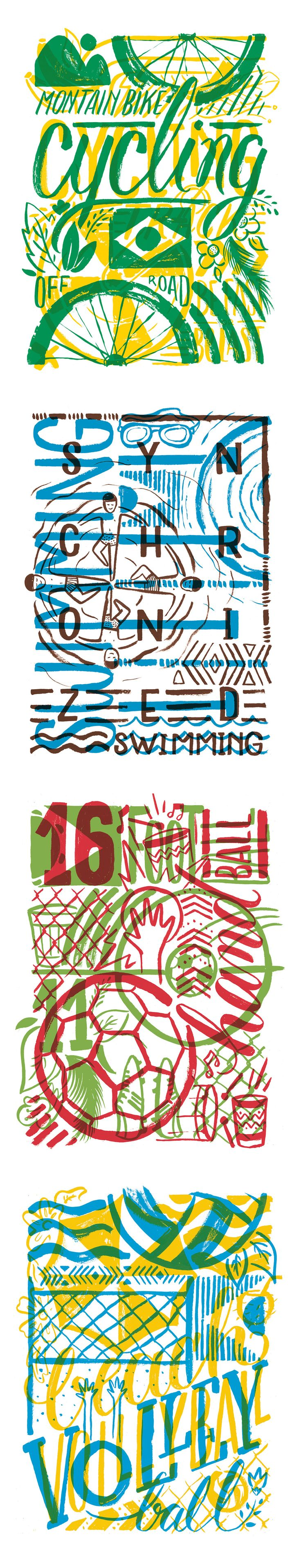 Illustrated graphics for WSGN inspired by 2016 Olympics in Rio.