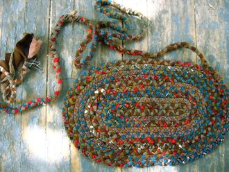 braided rag rug