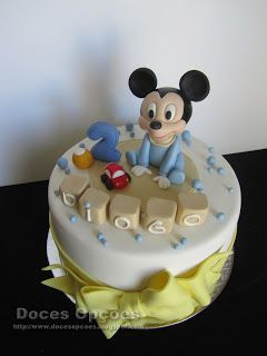 Doces Opções: O bebé Mickey no 2º aniversário do Diogo