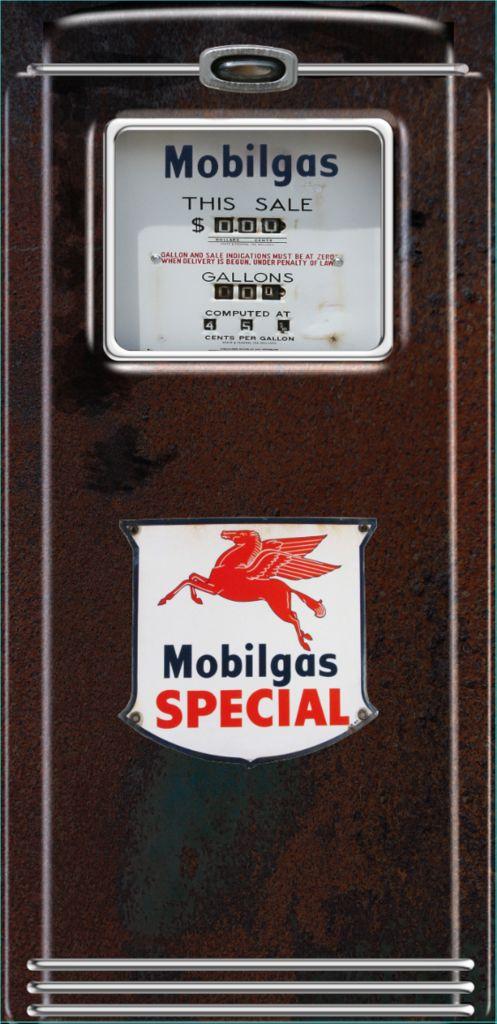 Mobilgas Special rust Gas pump Refrigerator wrap sticker – Rm wraps Store