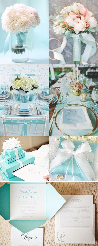 Tiffany-inspired Wedding Designs - Decor #Wedding #Party #Tiffany