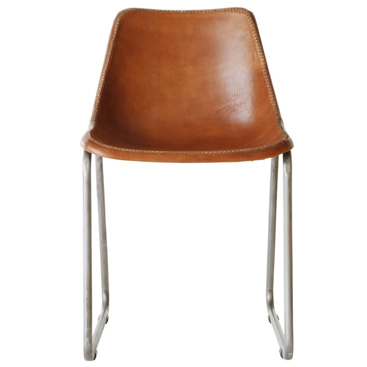 Moulded Leather Chair – Tan