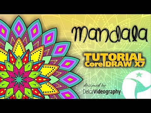 (INTERMEDIO) DISEÑO DE MANDALAS TUTORIAL COREL DRAW X4, X5, X6 ,X7 y X8 - YouTube