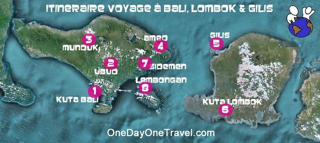 Bali : Itinéraire de voyage et de vacances à Bali, Lombok et Gili en 8 étapes incontournables