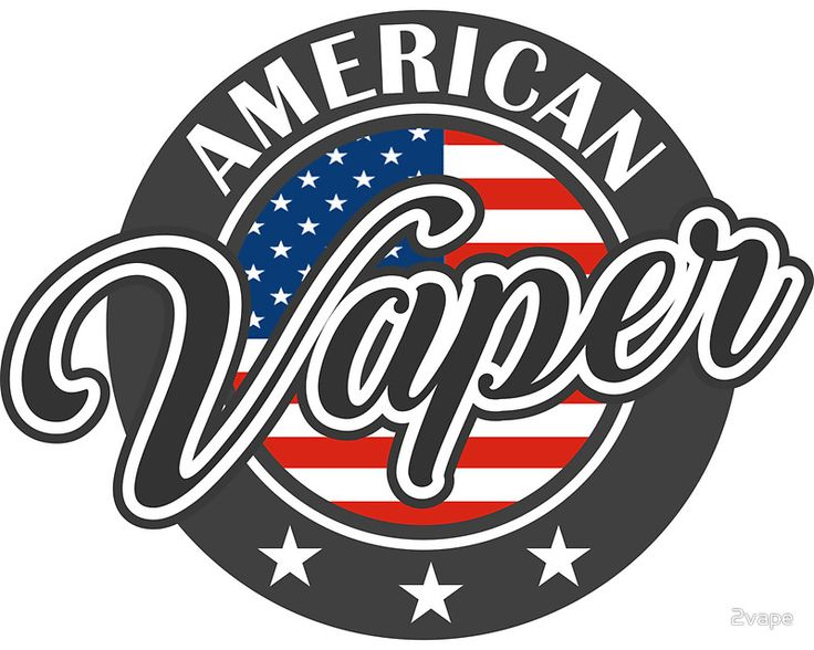 Vape design american vaper sticker by 2vape