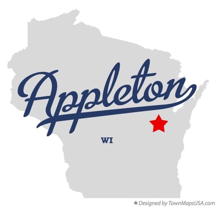 Map of Appleton Wisconsin WI