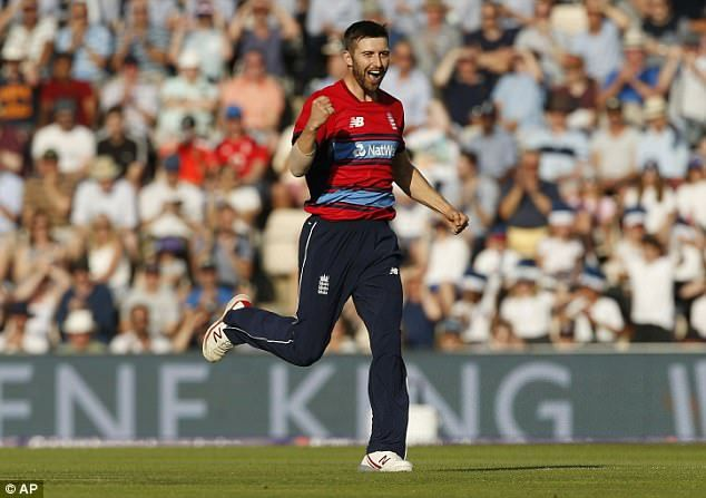 Mark Wood took a wicket in his first over and finished with figures of two for 36