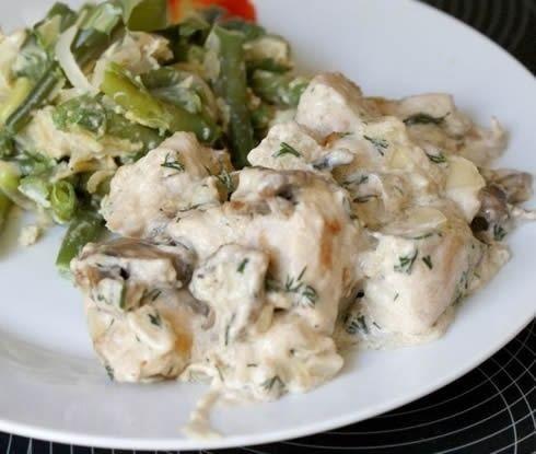 Фото к рецепту: Мясо под сырным соусом