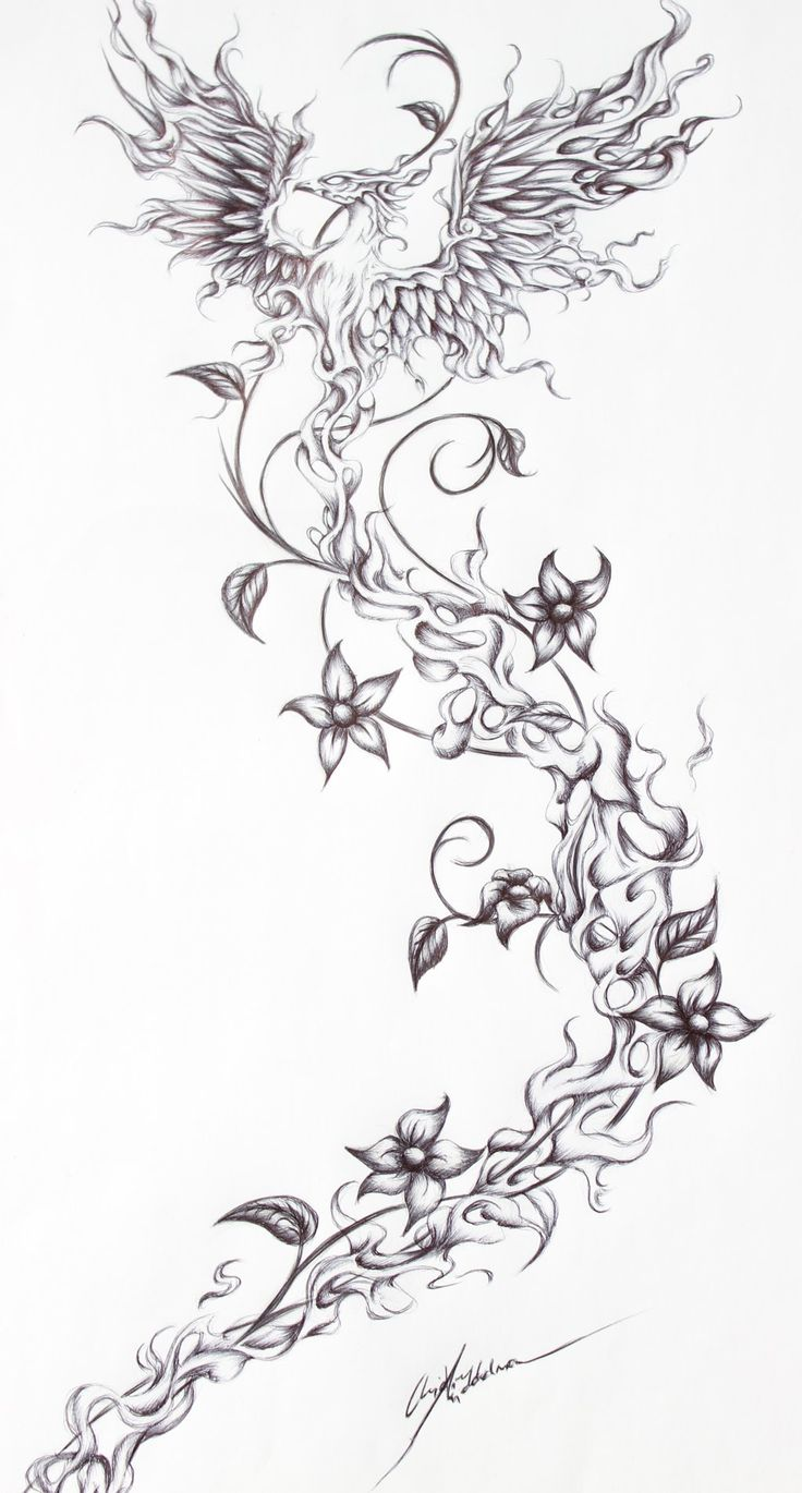 Firebird- Tattoo request from a friend by OpheliaArts.deviantart.com on @DeviantArt