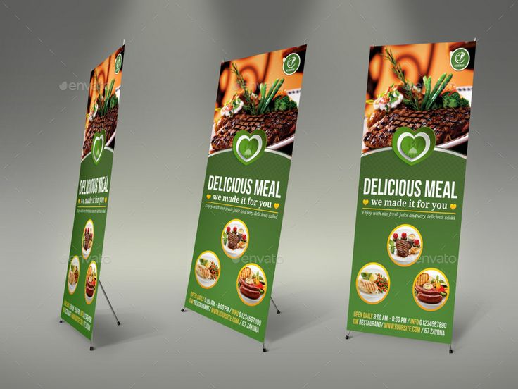 Restaurant Rollup Signage Template Vol.8 #Ad #Rollup, #Sponsored, #Restaurant, #...