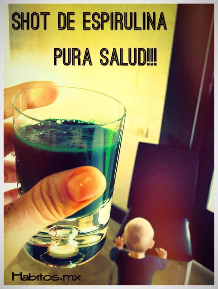 Shot saludable: espirulina