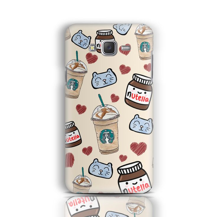 Nutella Samsung Galaxy J5 Case Samsung Galaxy S6 S5 S4 S3 J5 A3 A5 A7 Note 3/4 S3 mini S4 mini S5 mini Starbucks Love iPhone Case Nutella by CaseLoco on Etsy