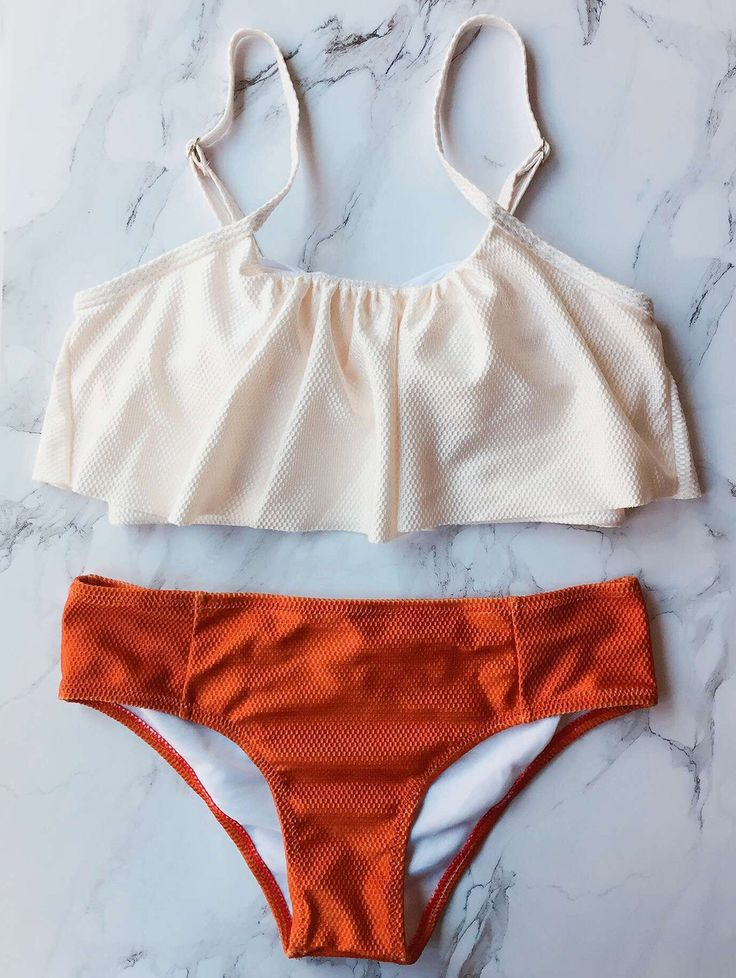 $13.99 Color Block Covered Bikini Set - RED S