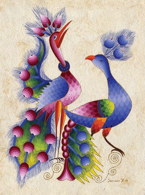 Peacocks in Pair by Seeroon Yeretzian
