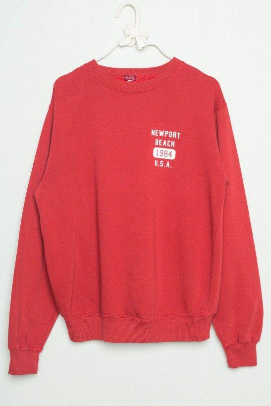 Erica Newport Beach 1984 U.S.A Sweatshirt. Brandy Melville. Red.