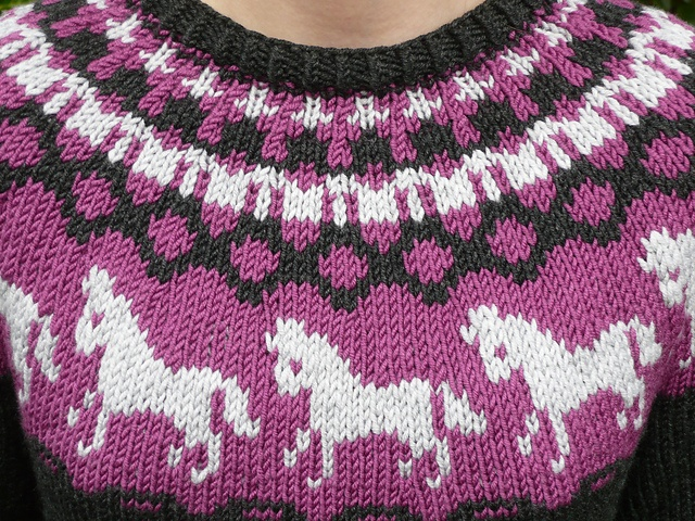 Horse Unicorn Knit Sweater Free Pattern Kids Knitting