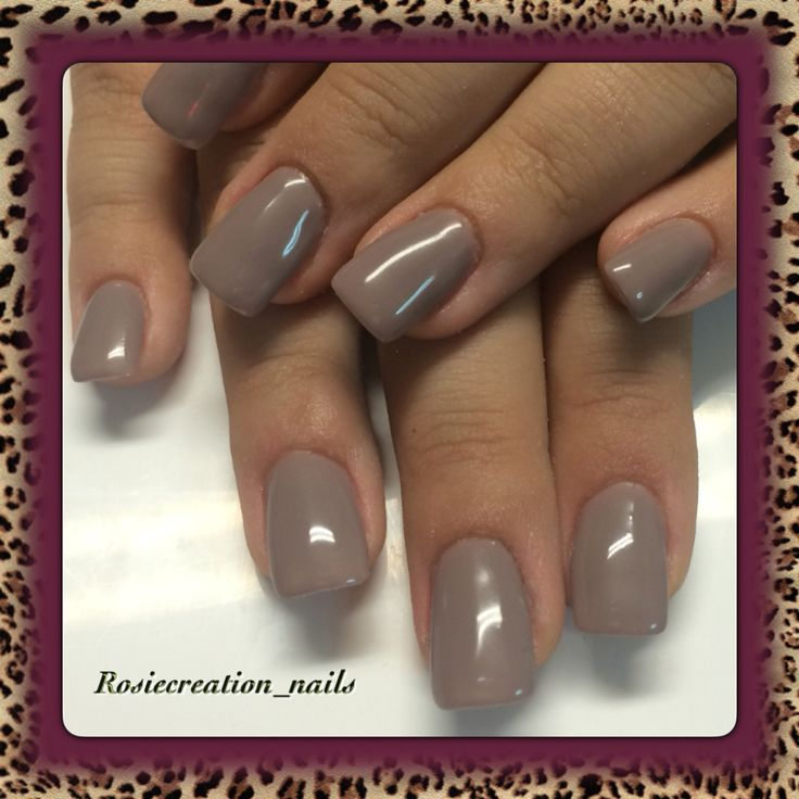 Gel nails , taupe colours