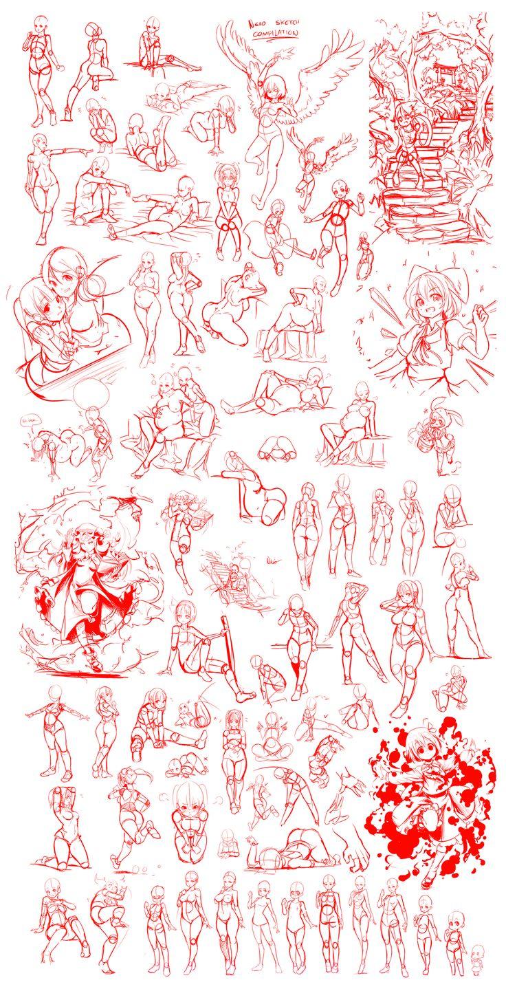 Nsio's Great Sketch Compilation by Nsio.deviantart.com on @deviantART