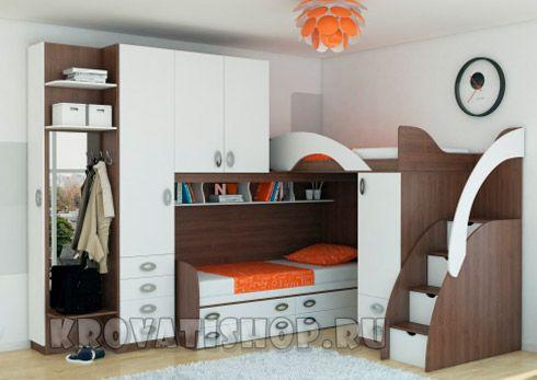 Двухъярусные кровати для детей, кровати чердаки, мебель для детской комнаты…
