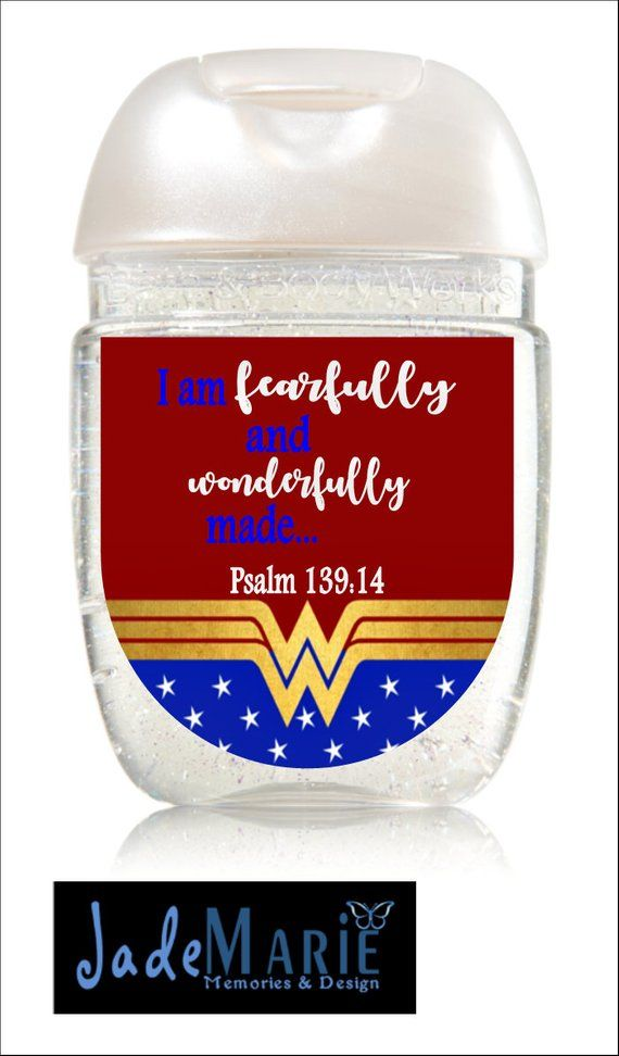 Wonder Woman Hand Sanitizer Labels Birthday Party Favors