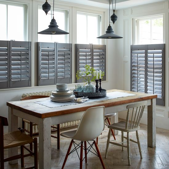 Shutters and blinds work wonderfully in a country interior — Country Homes and…