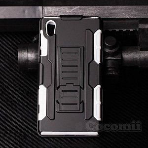 BEST Sony Xperia Z5 Case, Cocomii® [HEAVY DUTY] Robot Case *NEW* [Ultra Future Armor] Premium Belt Clip Holster Kickstand Bumper Case - Full-body Rugged Hybrid Protective Cover Bumper Case for Sony Xperia Z5 • Unique, rugged design with style and the utmost protection • Raised edge around the front lip for face-down protection • Extreme Protection from drops and scratches • Unique, slide-out kickstand for ease of video viewing • 5% Off Coupon Code 6BXA7NOZ This Week Only!