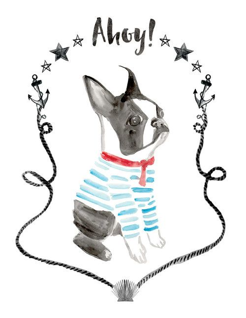 Boston Terrier Watercolor Greeting Card — BRIGHT LIMELIGHT STUDIO