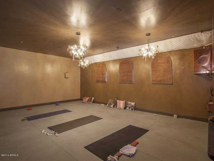 large home yoga room