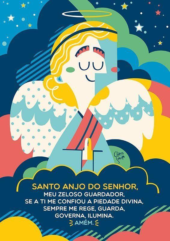 Santo Anjo Mensageiros divinos, guardiões celestiais, bons amigos. O anjos da guarda estão aí pra mostrar que não andamos sozinhos…