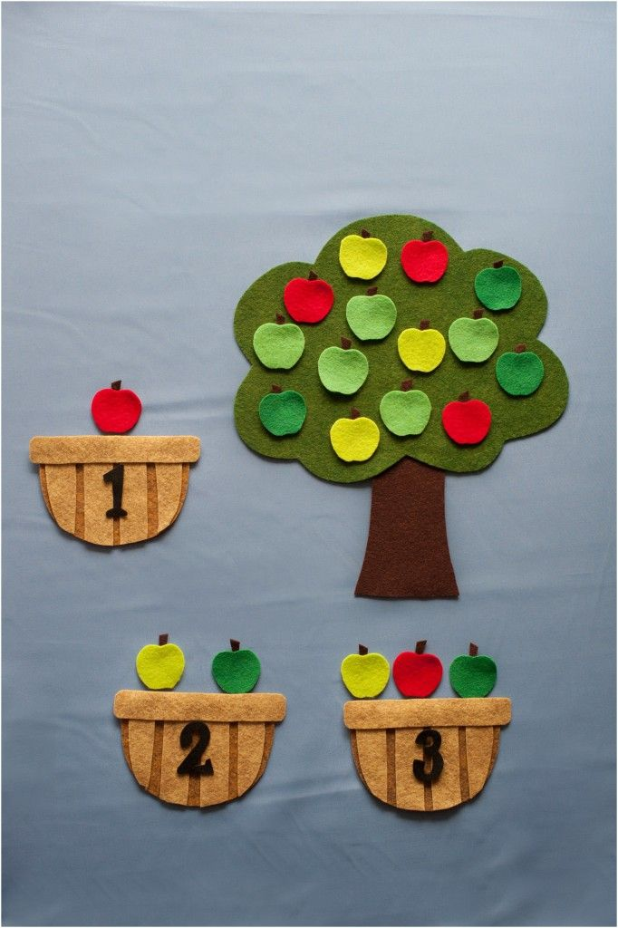 Apple Counting Baskets  Felt Board Magic