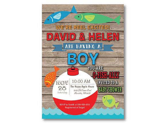 Fishing Baby Shower Invitation. Fishing Invitation. Boy Fish Baby Shower  Invite. Fisherman. O Fish Ally. Printable Digital