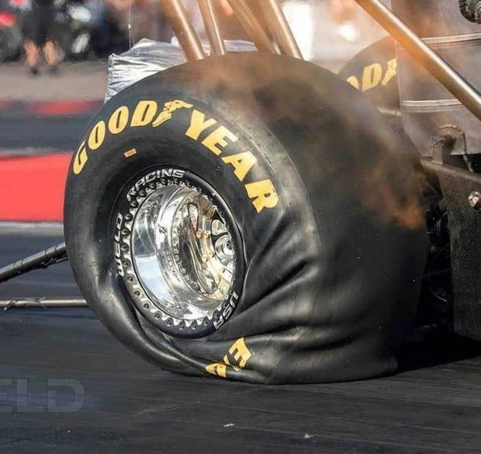 What 10k Horsepower On A Drag Racing Tire Looks Like Top Fuel