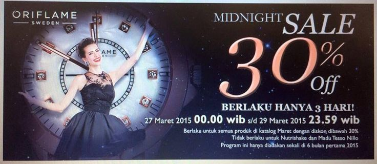 Special promo only for 3days, 30% only for product with normal price...