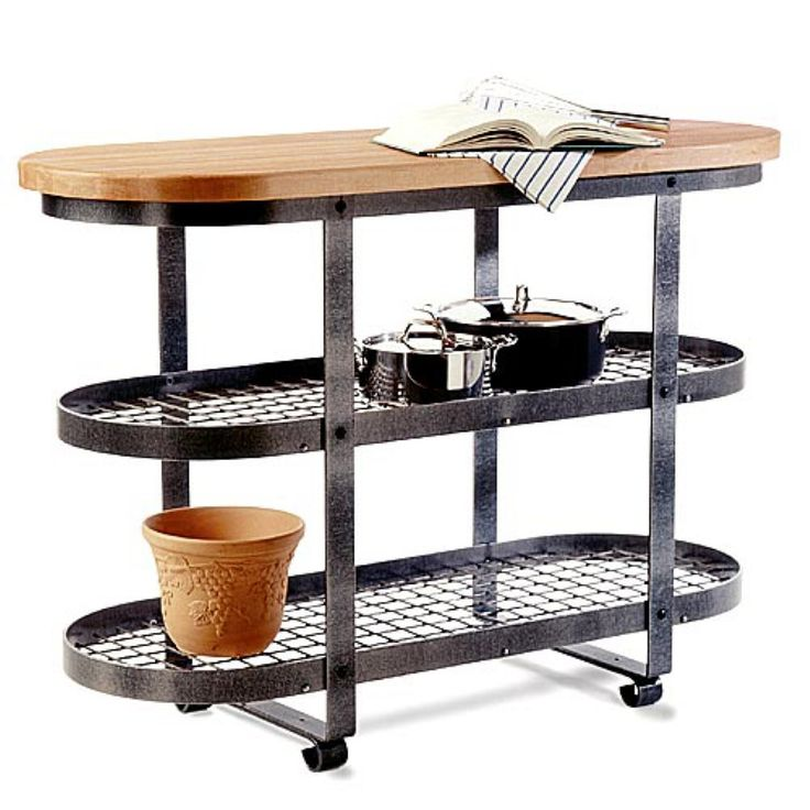 Enclume Short Gourmet Bakers Rack Island - Enclume Short Gourmet Bakers Rack Island. You'll make this movable island baker's rack the focal point of your kitchen as you use it in a variety of w...
