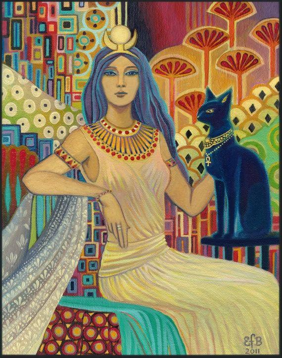 "Cleopatra pondering... Seen on the blog ""Korkoro"" on Tumblr."