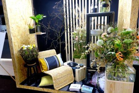 """Schaufenster/Shopwindow im Trendthema """"Harmonise"""" - eine Hommage an Natürlichkeit, natürliche Materialien und naturhaftes Design."""