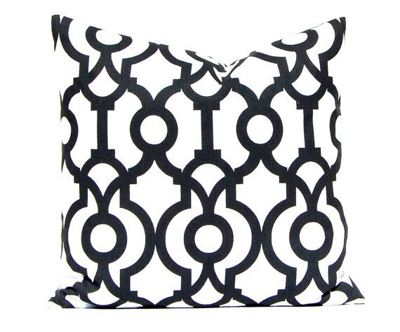 Black Pillow Cover Black Pillow Cover Trellis by FestiveHomeDecor, $17.00 Shadow Black Lyon Premier Prints