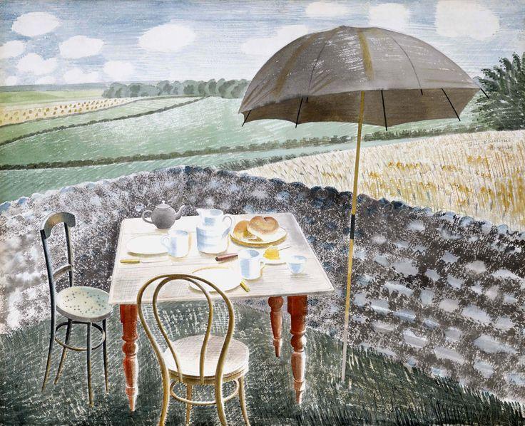 Tea at Furlongs, 1939, by Eric Ravilious