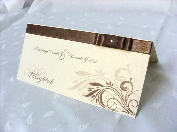 szalagos esküvői meghívó 043.01