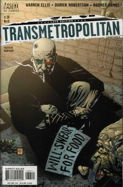 Transmetropolitan Cover ©Tim Bradstreet